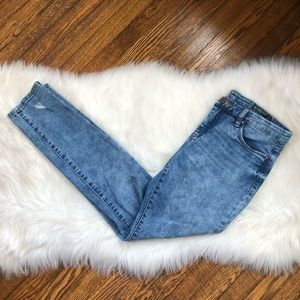 Blank NYC Skinny Classique Distressed Blue Jeans